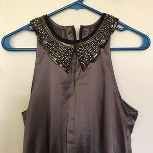 H&M Cocktail Dress w/ Appliqué Collar